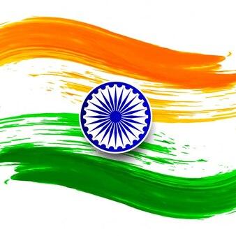 Día de la república de la india, fondo con una bandera de acuarela