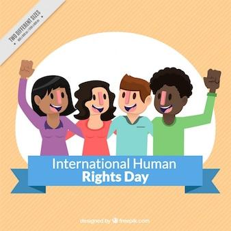 Día de los derechos humanos, personas felices