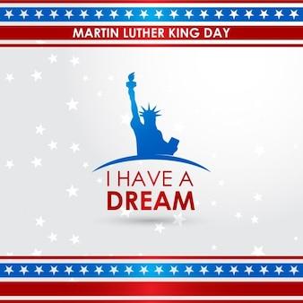 Día de martin luther king jr., fondo con estrellas