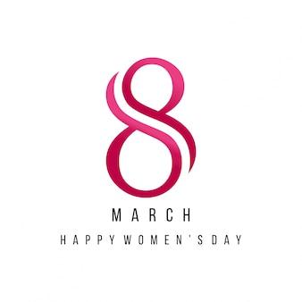 Día internacional de la mujer, fondo con un 8 abstracto