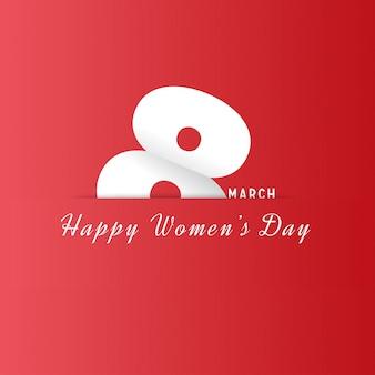 Día internacional de la mujer, fondo rojo