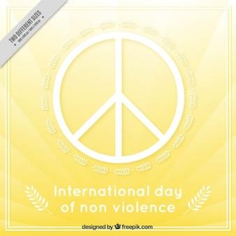 Día internacional de la no violencia con el simbolo de la paz