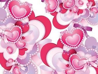 Diamantes corazones vector