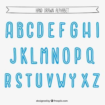 Dibujado a mano Alfabeto
