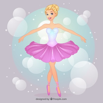 Dibujado a mano bailarina de ballet bastante