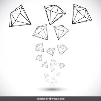 Dibujado a mano diamantes