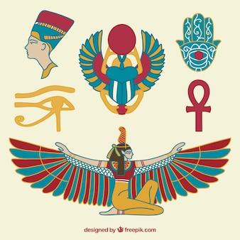 Dibujado a mano la cultura egipcia