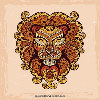 Dibujado a mano león abstracto
