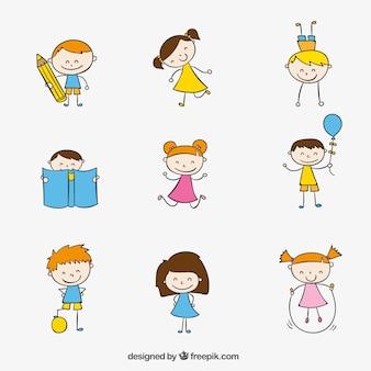 Dibujado a mano los niños