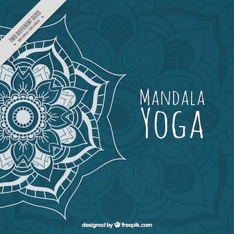 dibujado a mano Mandala de la yoga