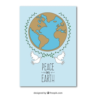 Dibujado a mano tarjeta de paz