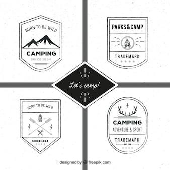 dibujados a mano logotipos escudo de aventura