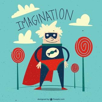 Dibujo animado del super hombre caramelo