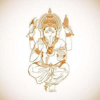 Dibujo de Ganesh