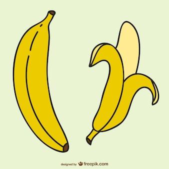 Dibujo simple de plátanos