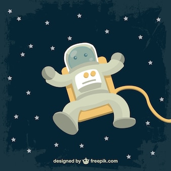 Dibujo vectorial de astronauta