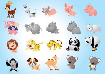 dibujos animados animal de carga
