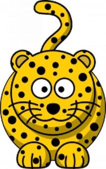 Dibujos animados de leopardo