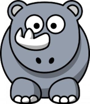 dibujos animados de rinoceronte