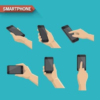 Diferentes acciones con smartphone
