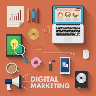 Diferentes dispositivos para marketing digital
