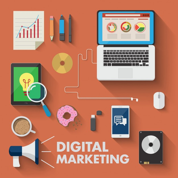Diferentes dispositivos para marketing digital