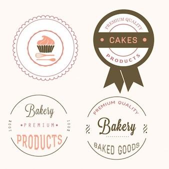 Diferentes etiquetas de panadería