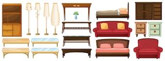 Diferentes muebles