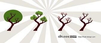 Diferentes tipos de árboles
