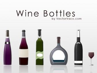 Diferentes tipos de botellas de vino