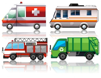 Diferentes tipos de ilustración de camiones