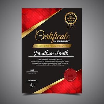 Diploma elegante negro de la plantilla