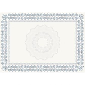 Diploma floral azul