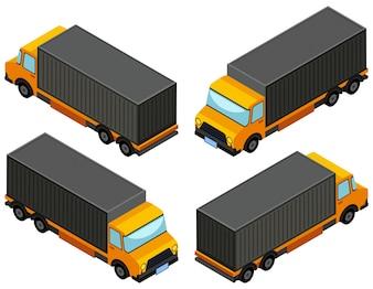 Diseño 3D para el camión de camión amarillo