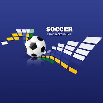 Diseño abstracto azul de fútbol