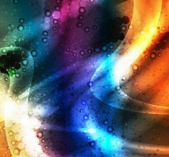 Diseño abstracto colorido de vectores de fondo
