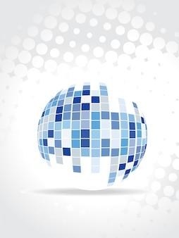 Diseño abstracto de bola de mosaico