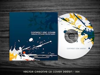 Diseño abstracto de cubierta de cd estilo chapoteo