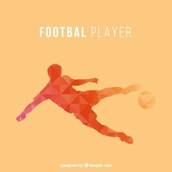 Diseño abstracto de futbolista en dos colores