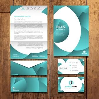 Diseño abstracto de papelería