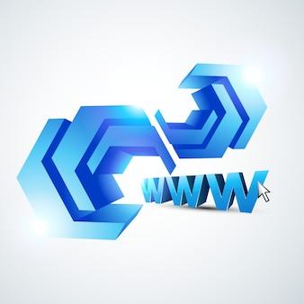 Diseño abstracto de www