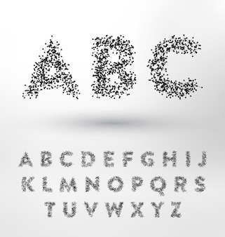 Diseño abstracto del alfabeto