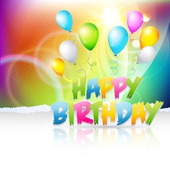 Diseño alegre colorido de cumpleaños