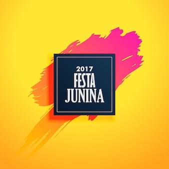 Diseño amarillo de festa junina con pincelada