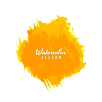 Diseño amarillo de textura de acuarela