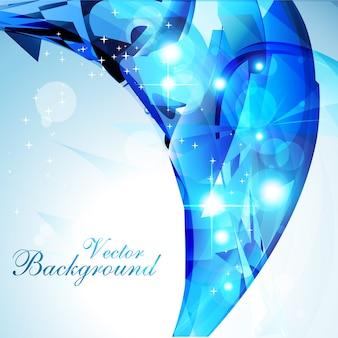Diseño azul luminoso ondulado de fondo