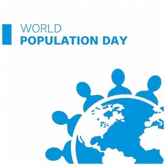 Diseño azul para el día mundial de la población
