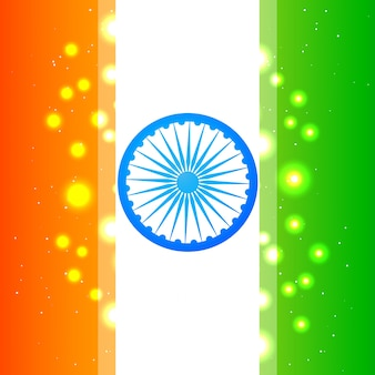 Diseño brilloso para el día de la independencia de la india