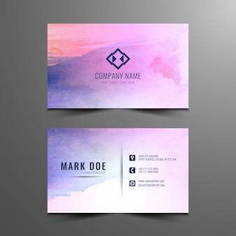 Diseño colorido abstracto de tarjeta de visita