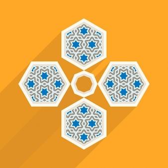Diseño colorido de arte islámico